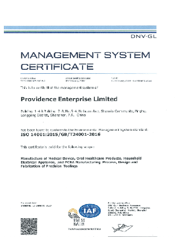 ISO 14001: 2015 - Environmental Management System